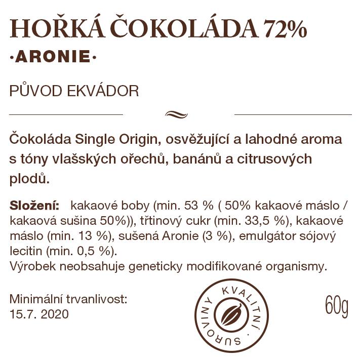Čokoládová tabulka s Aronií